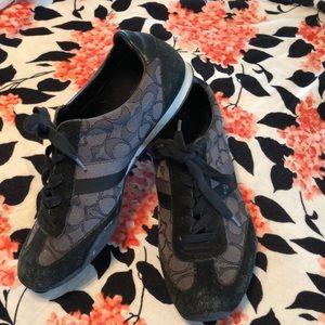 Coach Kelson Black Sneakers Sz 10
